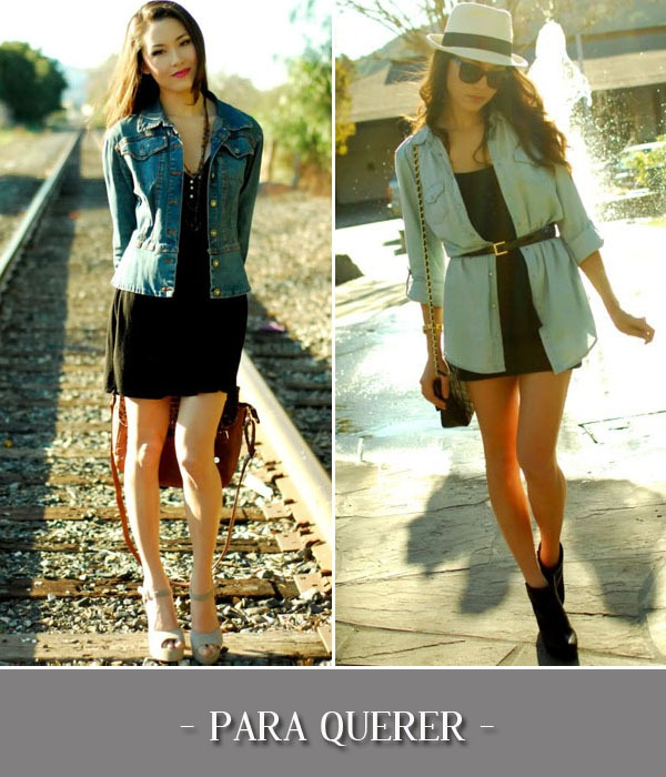 Looks-Inspiraes-Vestido-Preto-Jaqueta-Camisa-Jeans