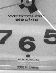 """Westclox Minicube alarm clock """"MADE IN CANADA"""""""