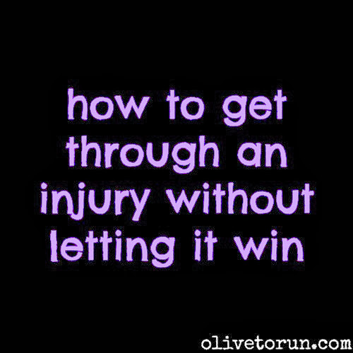 getting through an injury