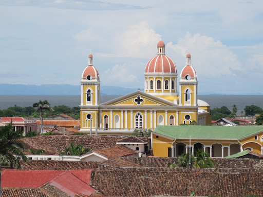 Cathedral with Lake Nicaragua in the background, Granada, Nicaragua