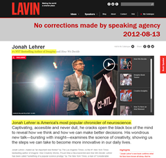 Lavin continues promoting Jonah