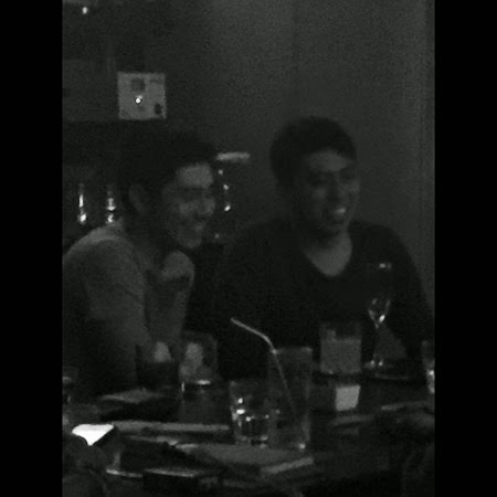Paulo Avelino with a male friend