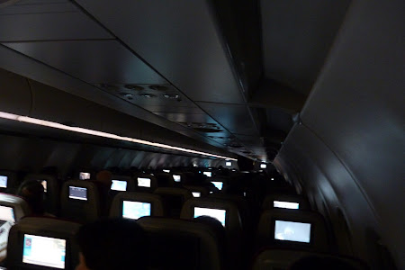 Interior avion Qatar Airways