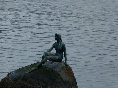 Imagini din Canada: sirena din Stanley Park