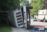 Overturned Truck On Paiken Drive In Spring Valley (Moshe Lichtenstein) - IMG_4458.JPG