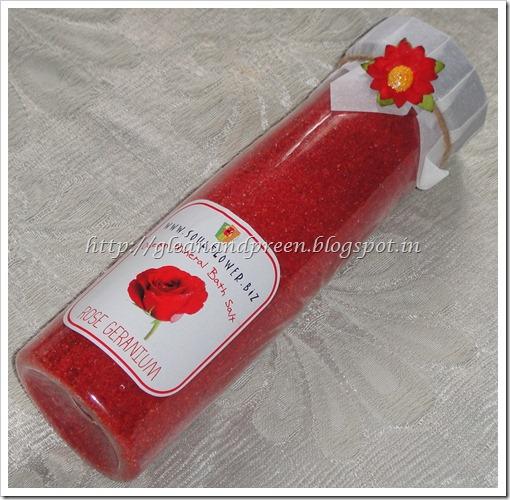 Soulflower Rose Gernaium Bath Salt1