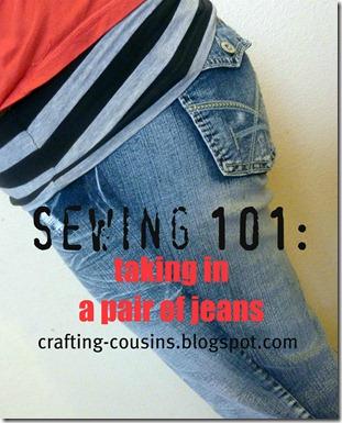 taking in jeans