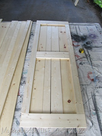 Shedlast how to make a shed door frame - Making a steel door look like wood ...