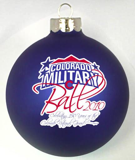 Colorado Military Ball Custom Ornaments Designed at http://www.fundraisingornaments.com