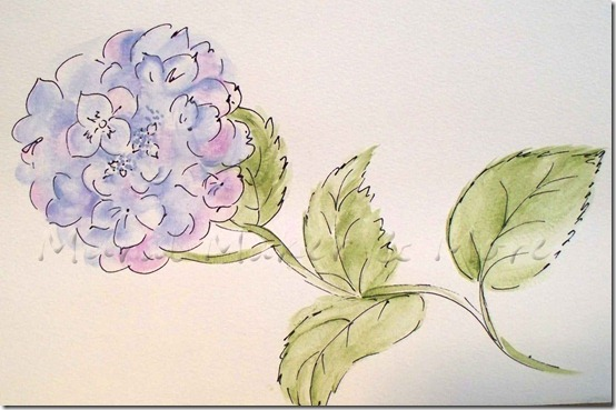 watercolor-like-hydrangea-a