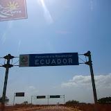 Entrada no Equador - Panamericana Norte