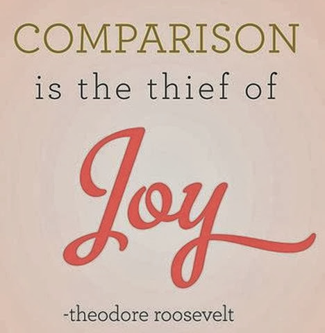 comparison is a thief