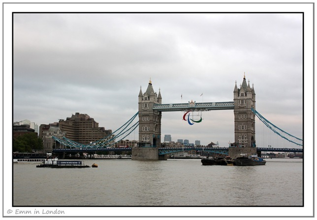 Paralympic Agitos on Tower Bridge