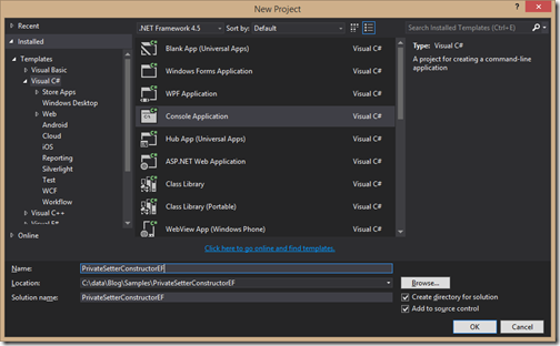 console-application-private-setter-entity-framework