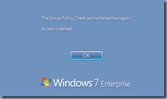 the user profile service failed the sign-in citrix