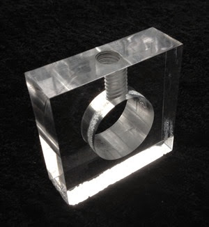 Lucite nut cracker base oblique