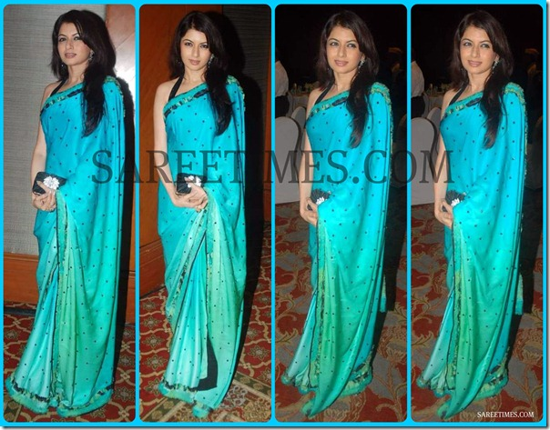 Bhagyashree_Blue_Saree