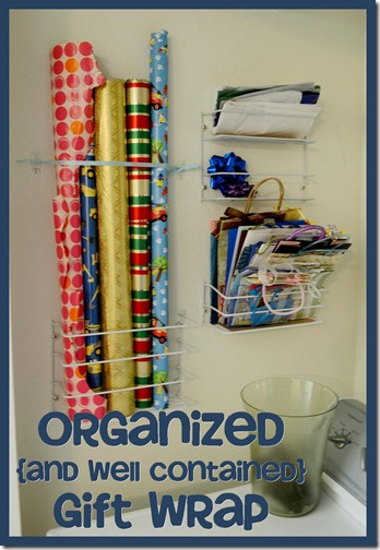Organzied and Well Contained Gift Wrap at Made it on Monday