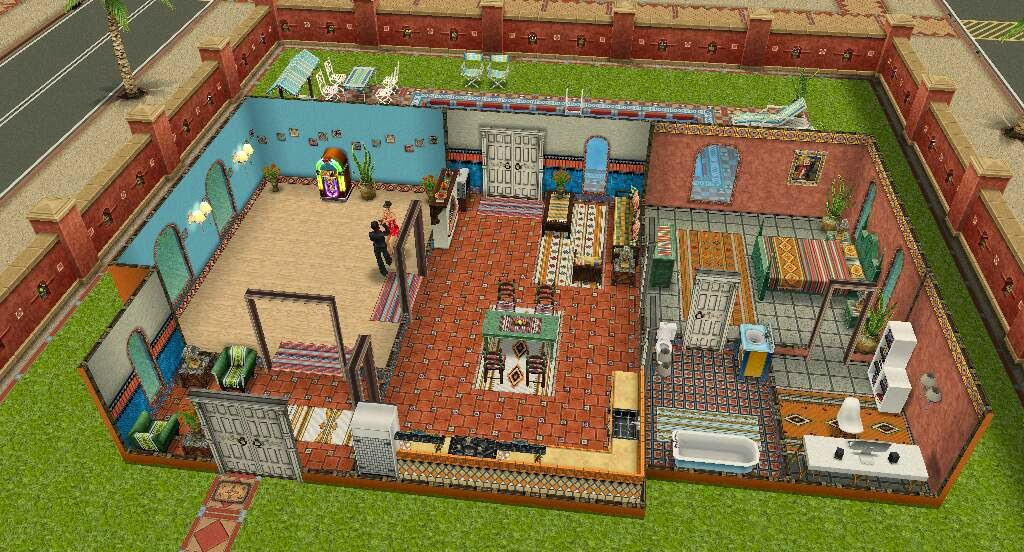 The sims freeplay uma dan a para recordar explore a vila for Casa de diseno the sims freeplay