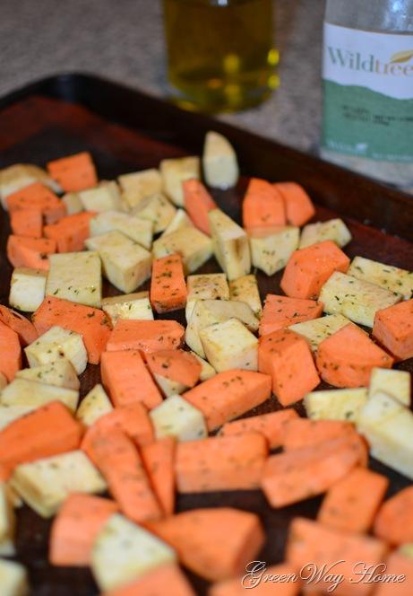 Roasted Sweet Potatoes 1