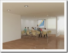 Sala de 30m² para reuniones