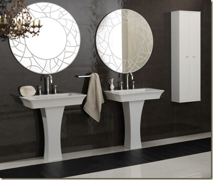 decoración moderna para baños grandes