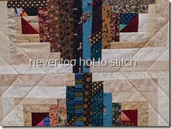 2013 Scrappy Log Cabin quilting detail 2
