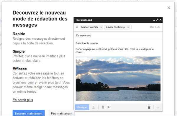 nouvelle interface Gmail