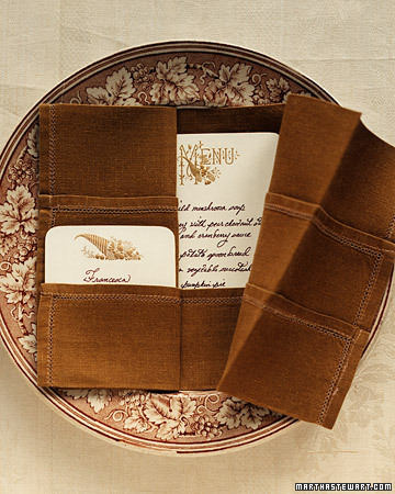 The open book fold is pretty with both bordered napkins and plain-edged ones. Each