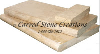 "Tuscany Beige Travertine Pool Coping, 24"" x 12"" x 3cm. Tumbled"