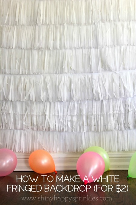 How to Make a Fringed Backdrop