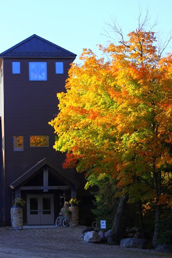 Maple in front of lodge at peak of fall color, September 25th
