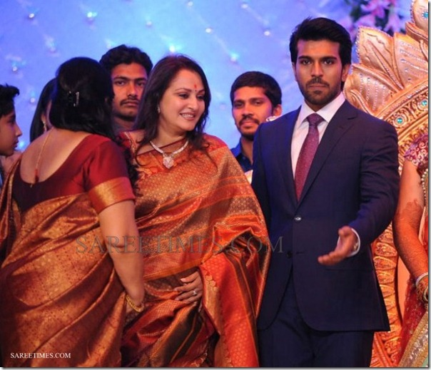 Madhuri Dixit at Ram Charan Reception Stills