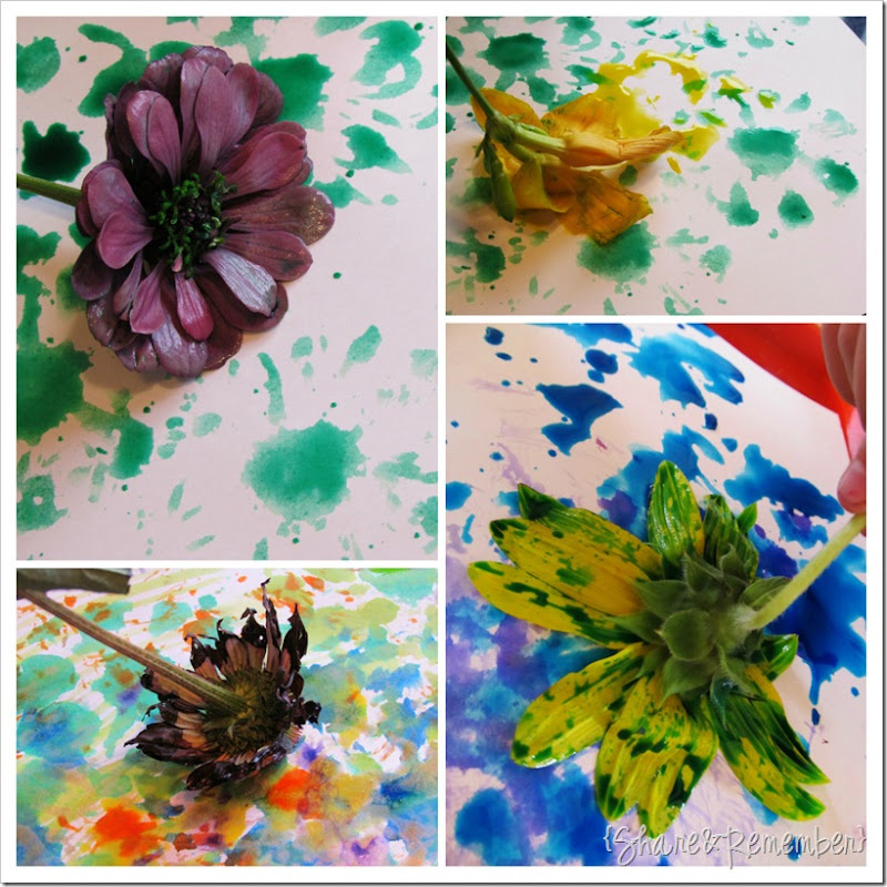 Painting with flowers collage 2