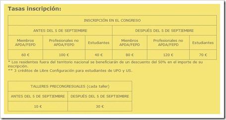 XIII Congreso Psicología de la Actividad Física y el Deporte en Sevilla, 17-19 noviembre de 2011 PRECIOS