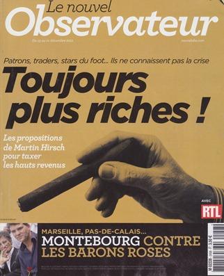 portada NouvelObs decembre 2011