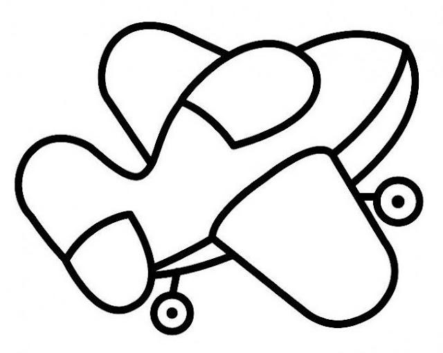 desenho aviao para colorir