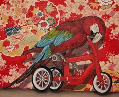 Ana-Elisa-Egreja_Arara-de-Bicicleta-2012_Oil-on-canvas_40-x-50-cm