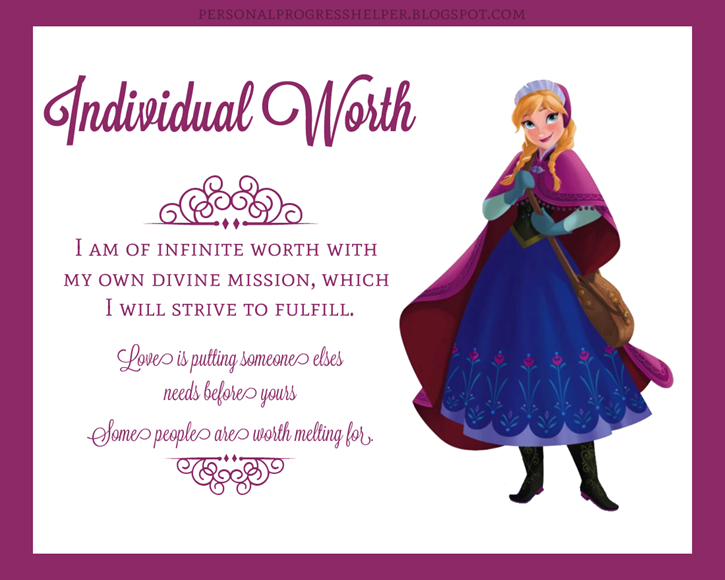 Young Women's Values with Disney Princesses: Individual Worth