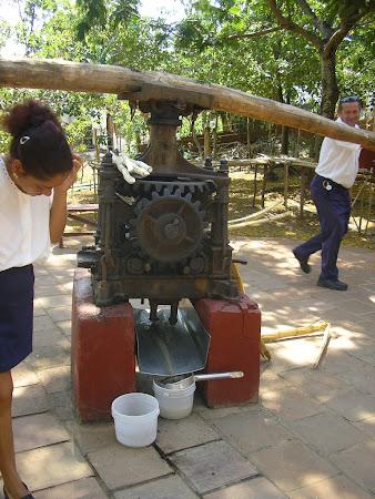 Cuba: Producing sugar cane juice