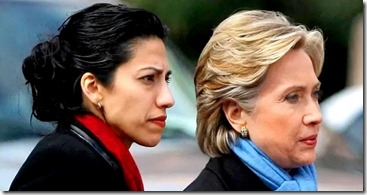 Huma Abedin, (left) shown with former Secretary of State and U.S. Senator Hillary Clinton. Abedin was an aide to Clinton beginning with an internship in the White House in 1996. She was Clinton's travelling chief-of-staff during Clinton's bid for the White House and deputy chief of staff while Clinton was Secretary of state. (Photo: © Reuters)