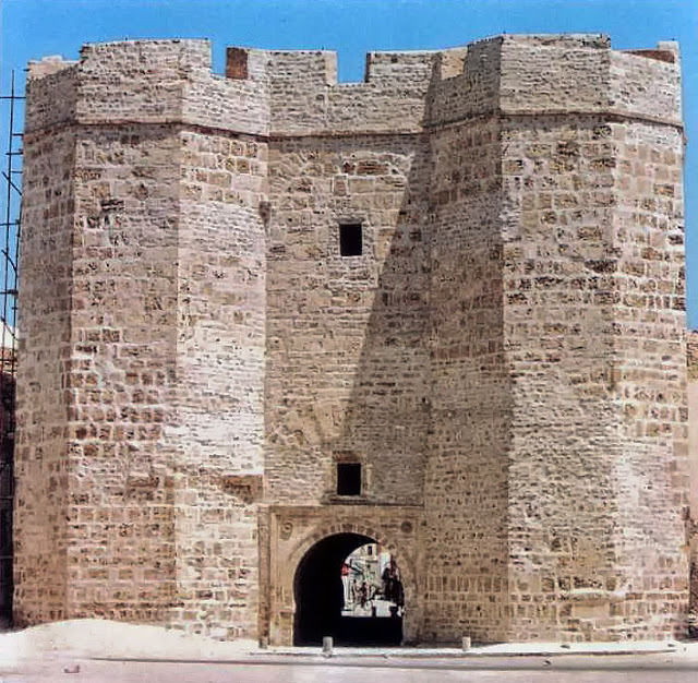 The Sqifa al-Kahla gatehouse in Mahdiya, 10th century.