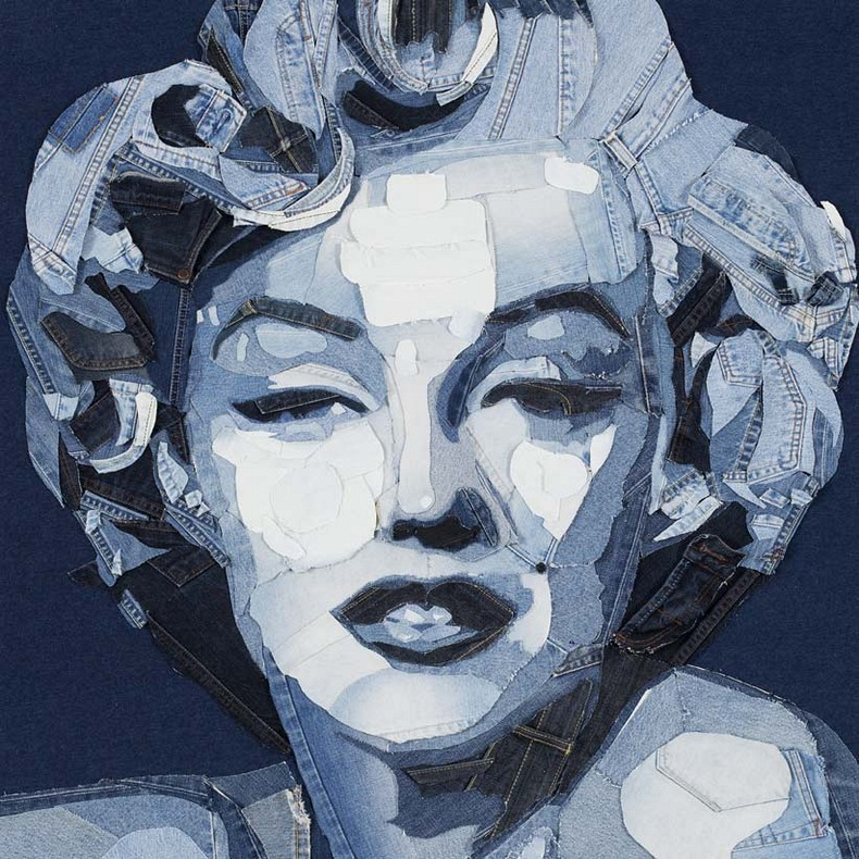 Impressive Artwork Made Out of Denim by Ian Berry
