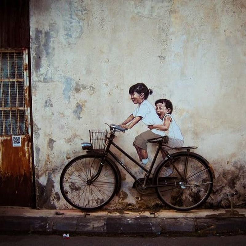 Ernest Zacharevic's Playful Street Art