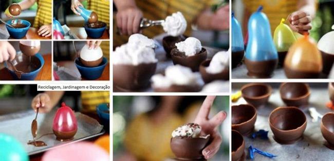 tacinhas de chocolate