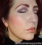 side of face with Manna Kadar makeup