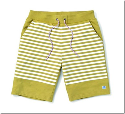 Monster University X Giordano - Stripe Boardshorts Green