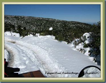 Takapari Road snow, in 2011