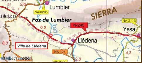 Localización villa de Liédena