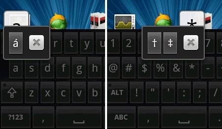 acentos y caracteres especiales en android
